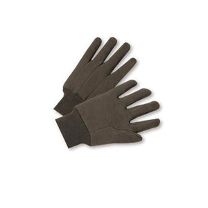Cotton/Poly Brown Jersey Work Gloves