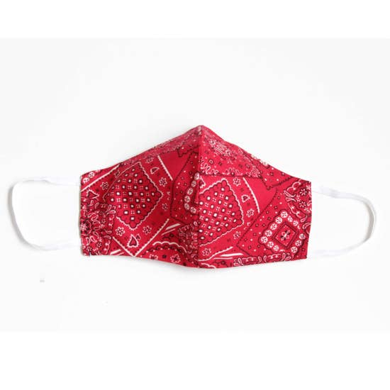 LMC Face Mask with Filter - Bandana - RED