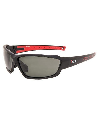 iNOX - Aura Safety Glasses with Gray Lens and Black/Red frame