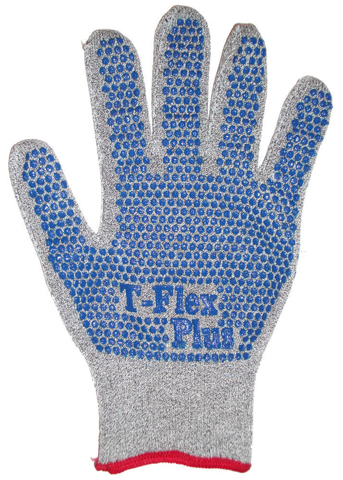 Best T-Flex Plus Dyneema Knit Seamless Cut Resistant Glove With Lycra-Spandex And Thermax Liner and AlphaSan Antimicrobial Treatment - Single Glove