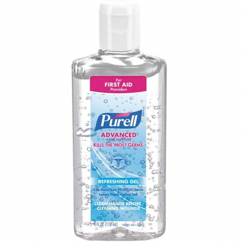 Purell Fragrance-Free Hand Sanitizer Clear Bottle - 4 Ounce
