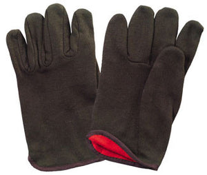 Brown Jersey Work Gloves with Lining - 2208T