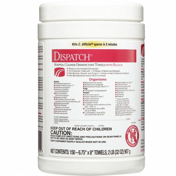 Dispatch Disinfecting and Sanitizing Wipes