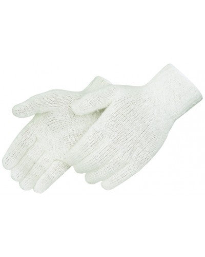 Natural white 100% cotton knit Gloves - Dozen