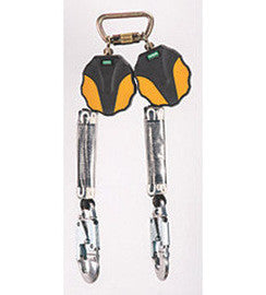 MSA 6' Workman® Twin-Leg Mini Personal Fall Limiter With AL36C Aluminum Snaphook