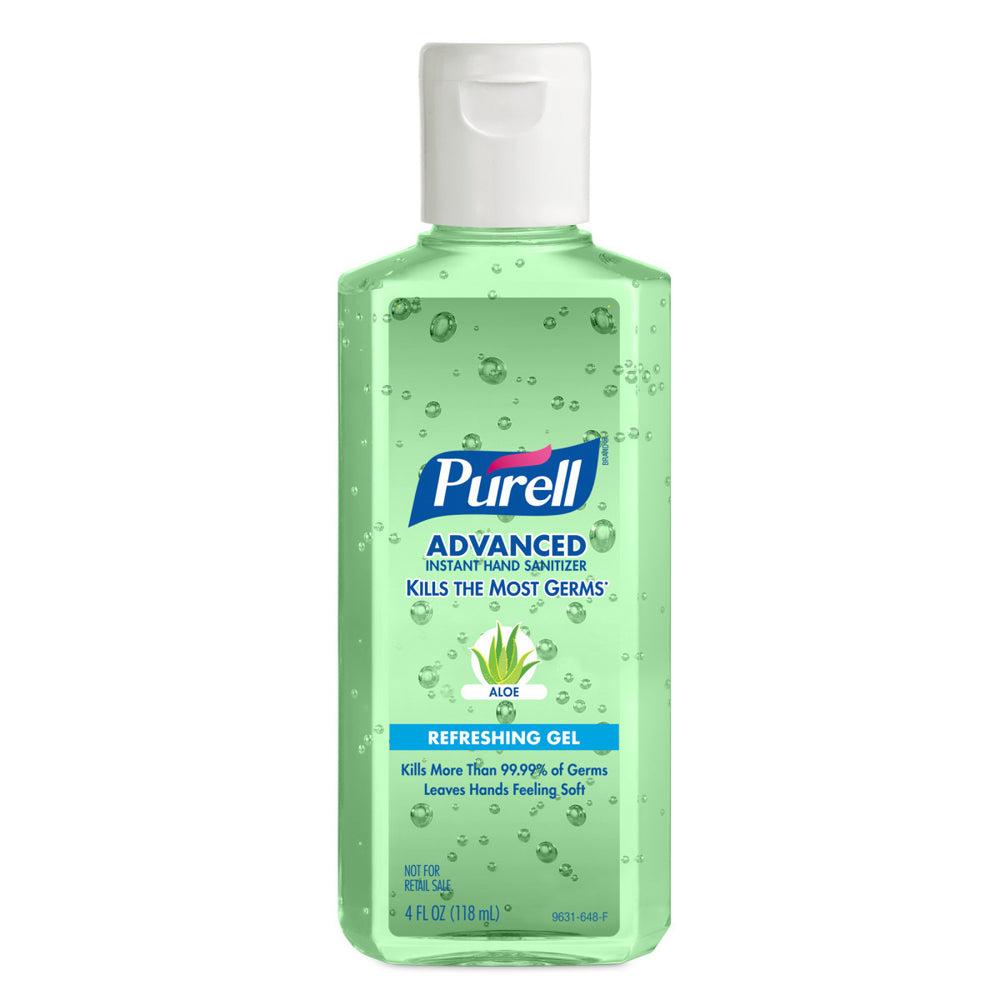 Purell Fragrance-Free Hand Sanitizer Green Bottle - 4 Ounce