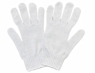 Bleach-white Cotton/Poly String Knit Gloves - Dozen