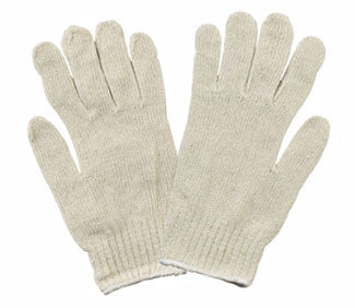 Natural-colored Cotton/Poly String Knit Gloves - Dozen