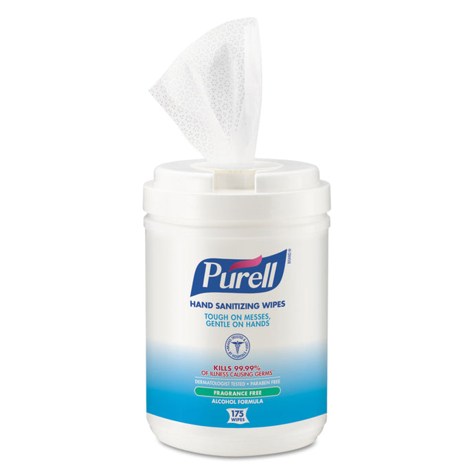 Purell® Sanitizing Wipes, Canister Of 175 Wipes