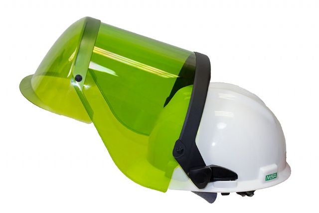 National Safety Apparel® ArcGuard® Green 12 cal/cm² HRC 2 Faceshield With Hard Hat