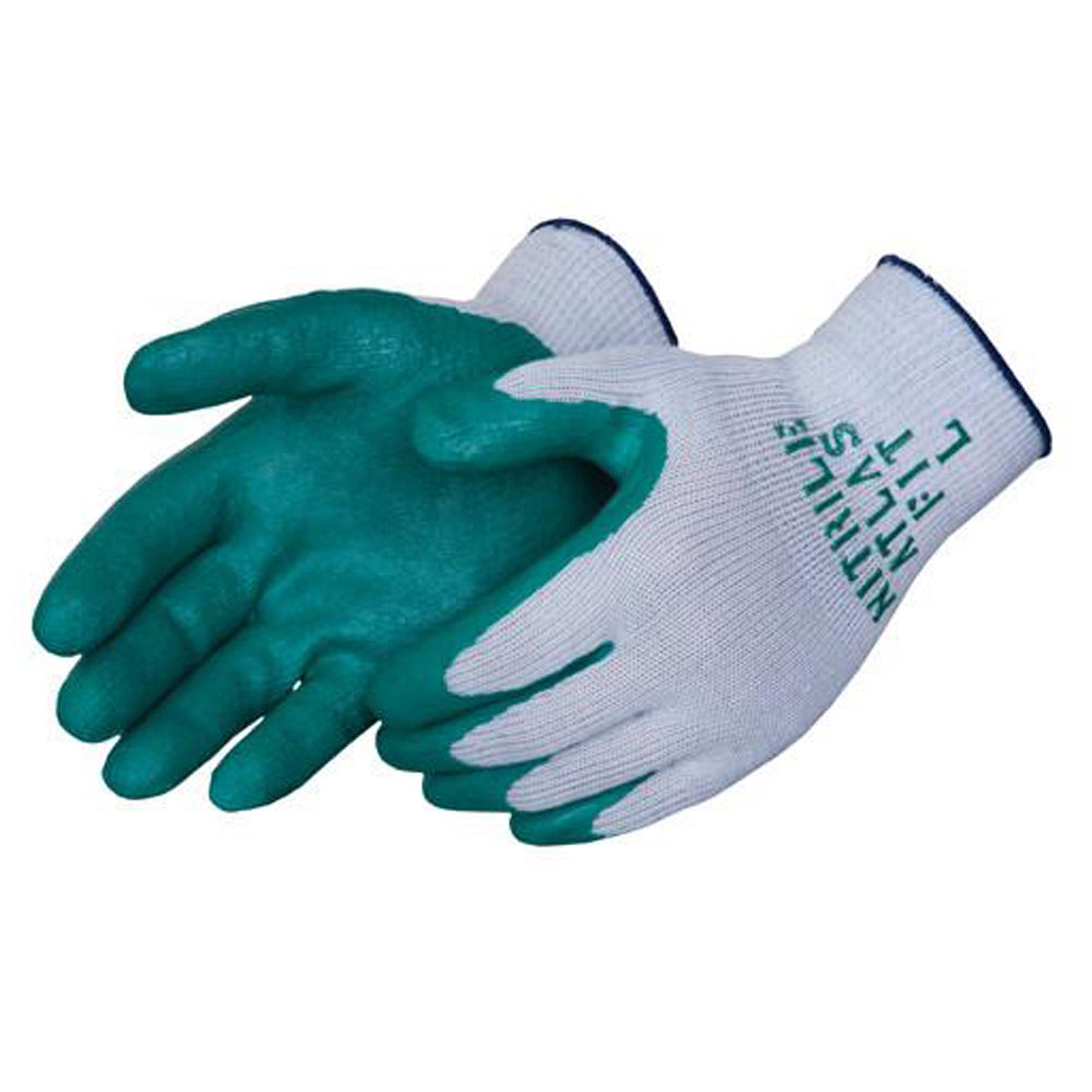 Atlas Fit Nitrile Coated Work Gloves (Green)