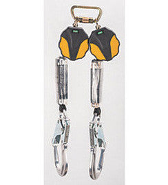 MSA 6' Workman® Twin-Leg Mini Personal Fall Limiter With AL36CL Rebar Aluminum Snaphook
