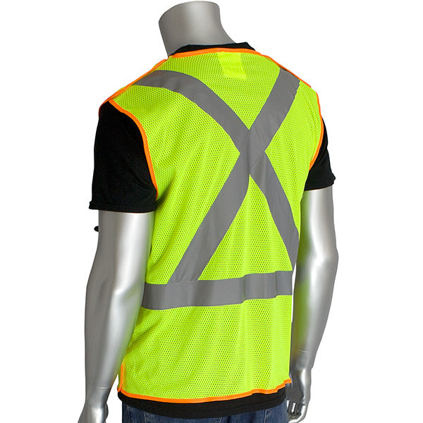 PIP-ANSI Type R Class 2 and CAN/CSA Z96 X-Back Breakaway Mesh Vest