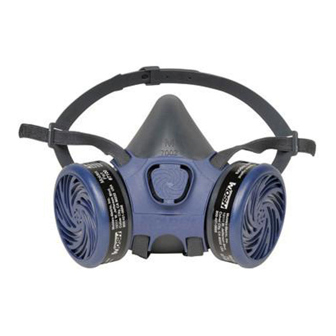 Moldex 7000 Series Half Face Pre-Assembled Air Purifying Respirator With 7100 OV Cartridges (12 Air Purifying Respirators - Pack)