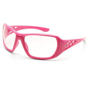 Rose Safety Glasses Pink/Clear Lens