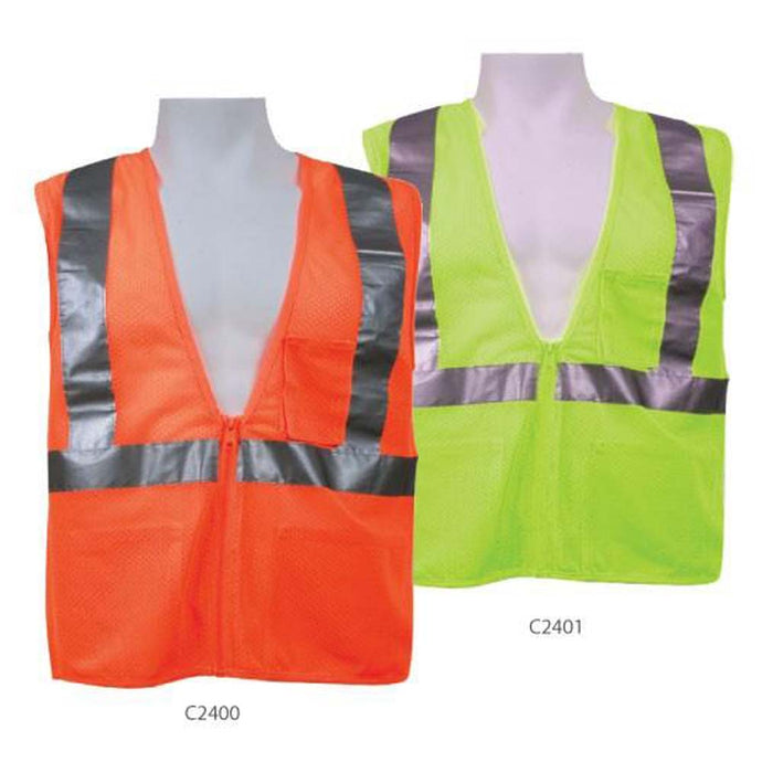 3A Safety - Ice Cool Mesh Safety Vest with Radio/Inner Pockets