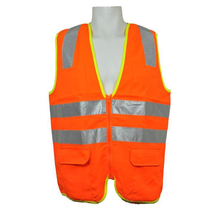 3A Safety - ANSI Certified Safety Vest with Contrasting Outline