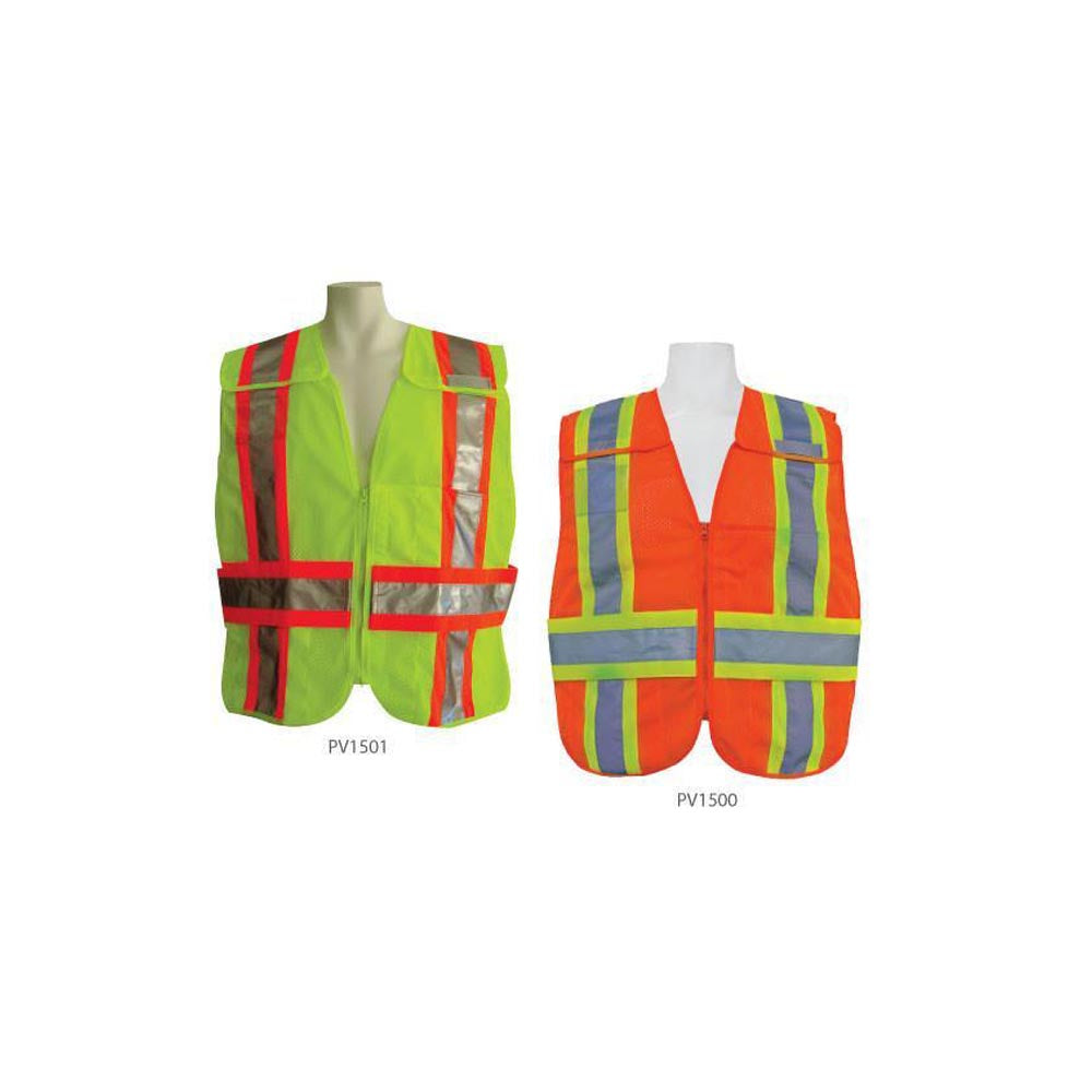 3A Safety -Dual ANSI Certified Vest With Color Coded Panels