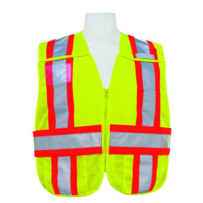 3A Safety - 5-Point Breakaway Mesh Safety Vest Lime Color Size XX-large - 5X-large