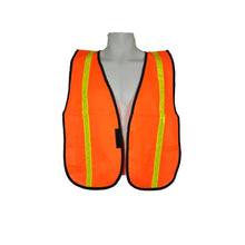 "Load image into Gallery viewer, 3A Safety All-Purpose Tight Mesh Safety Vest 1"" Vertical Stripe"