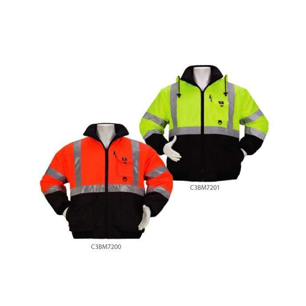 a9bb9eaf9256 3A Safety - Reversible Two-Tone Class 3 Bomber Jacket – eSafety ...