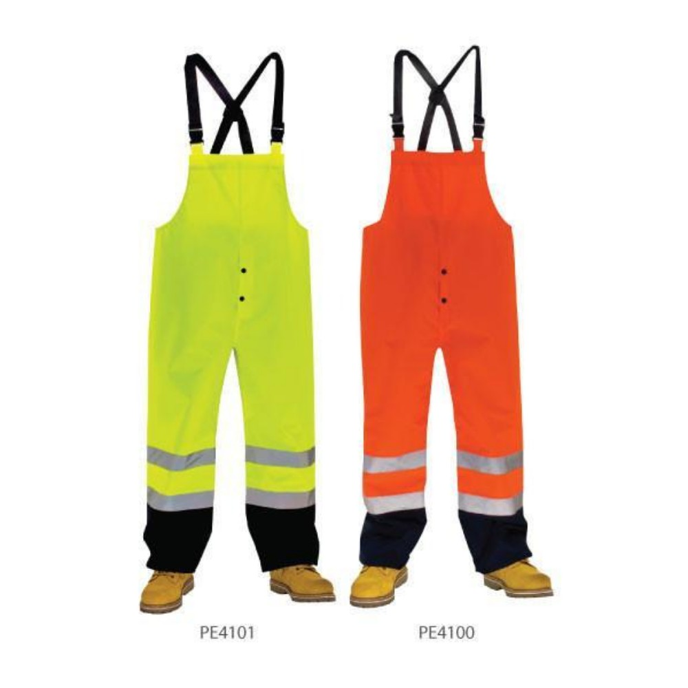 3A Safety Hi-Viz Rainwear Bib Pants