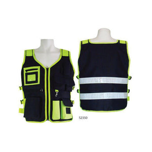 3A Safety Utility Safety Vest Black Lime