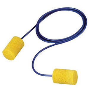 3M E-A-R Cylinder Foam PVC Corded Earplugs (500 Pairs Corded Earplugs - Pack)