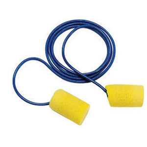 3M E-A-R Cylinder Foam PVC Corded Earplugs (200 Pairs Corded Earplugs - Pack)