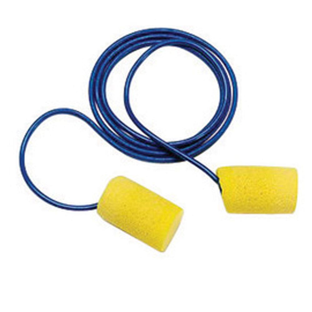 3M E-A-R Classic Cylinder Foam PVC Corded Earplugs (200 Pairs Corded Earplugs - Pack)