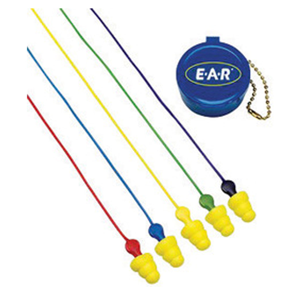 3M E-A-R Multi-Flange Polymer Corded Earplugs (50 Pairs Corded Earplugs - Pack)