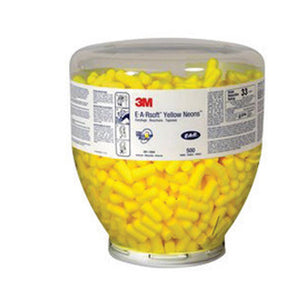 3M E-A-Rsoft Tapered Foam Polyurethane Uncorded Earplugs (500 Pair Uncorded Earplugs - Pack)