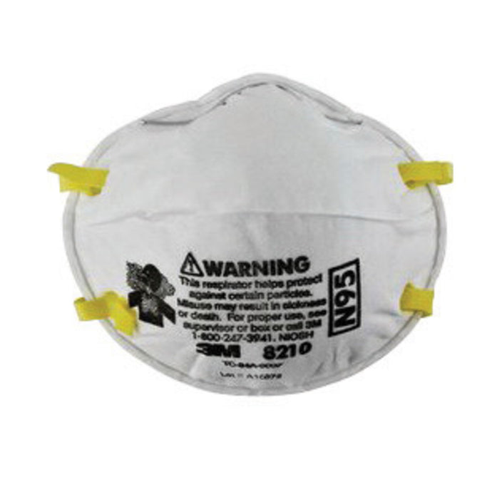 3M 8210 N95 Disposable Dust Mask Particulate Respirator (20 Disposable Particulate Respirators - Pack)
