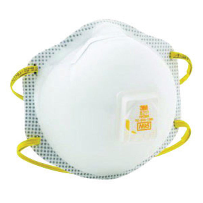 3M - 8211 N95 Particulate Disposable Respirator (10 Disposable Particulate Respirators - Pack)