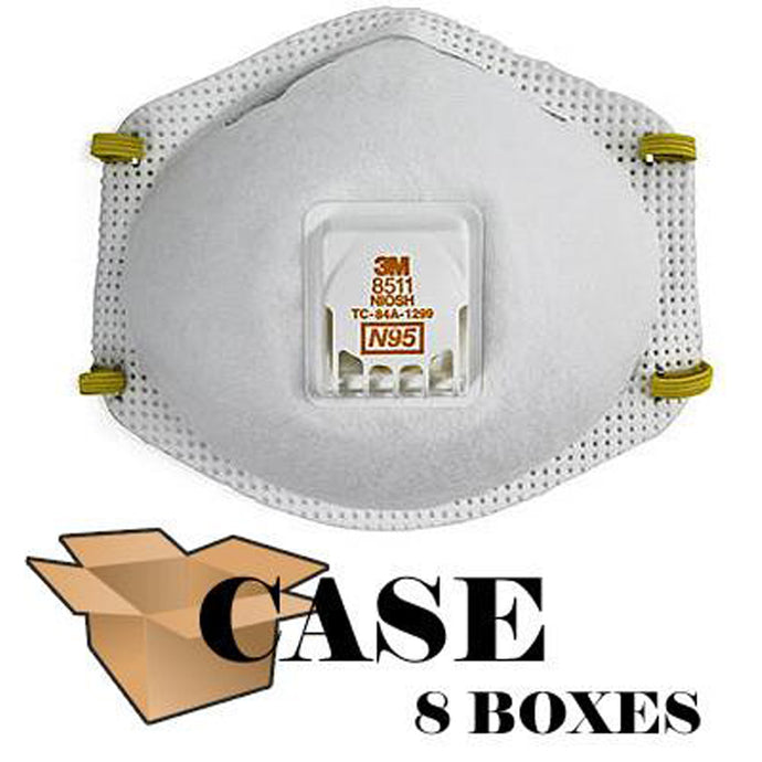 3M - 8511 Particulate Respirator Mask - Case