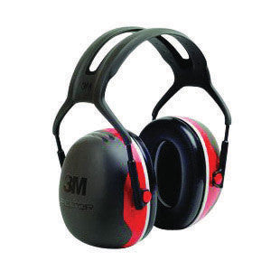 3M Peltor Black And Red Model X3A/37272 Over-The-Head Hearing Conservation Earmuffs