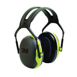 3M Peltor Black And Chartreuse Model X4A/37273 Over-The-Head Hearing Conservation Earmuffs