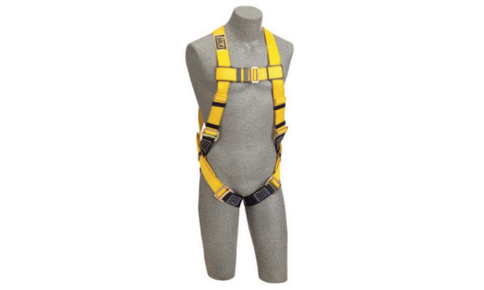 3M DBI-SALA 2X Delta Full Body Vest Style Harness With Back D-Ring And Parachute Buckle Leg Strap