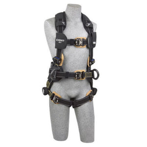 3M DBI-SALA 2X ExoFit NEX Arc Flash Construction Full Body Vest Style Harness With Tech-Lite  PVC Coated Aluminum Back And Side D-Ring, Duo-Lok  Quick Connect Leg And Chest Strap Buckle, Belt With Pad, Torso Adjuster, Back And Leg Comfort Padding
