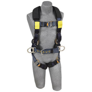 3M DBI-SALA 2X ExoFit XP Arc Flash Construction Full Body Vest Style Harness With Back And Front Web Rescue Loop, Belt With Pad And Side D-Ring, Quick Connect Chest And Leg Strap Buckle, Leather Insulators And Nomex Kevlar Comfort Padding