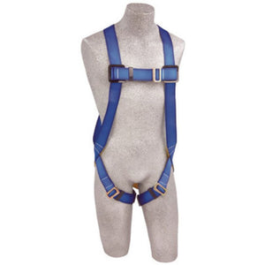 3M DBI-SALA 2X PROTECTA FIRST Full Body Vest Style Harness With Back D-Ring, Pass Thru Buckle Legs And Attached 6' AE57610 Lanyard