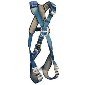 3M DBI-SALA ExoFit XP Cross Over/Full Body Style Harness With Back And Front D-Ring, Quick Connect Leg Strap Buckle, Loops For Body Belt And Removable Comfort Padding