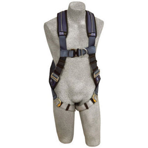 3M DBI-SALA ExoFit XP Full Body/Vest Style Harness With Back And Front D-Ring, Quick Connect Chest And Leg Strap Buckle, Loops For Body Belt And Removable Comfort Padding