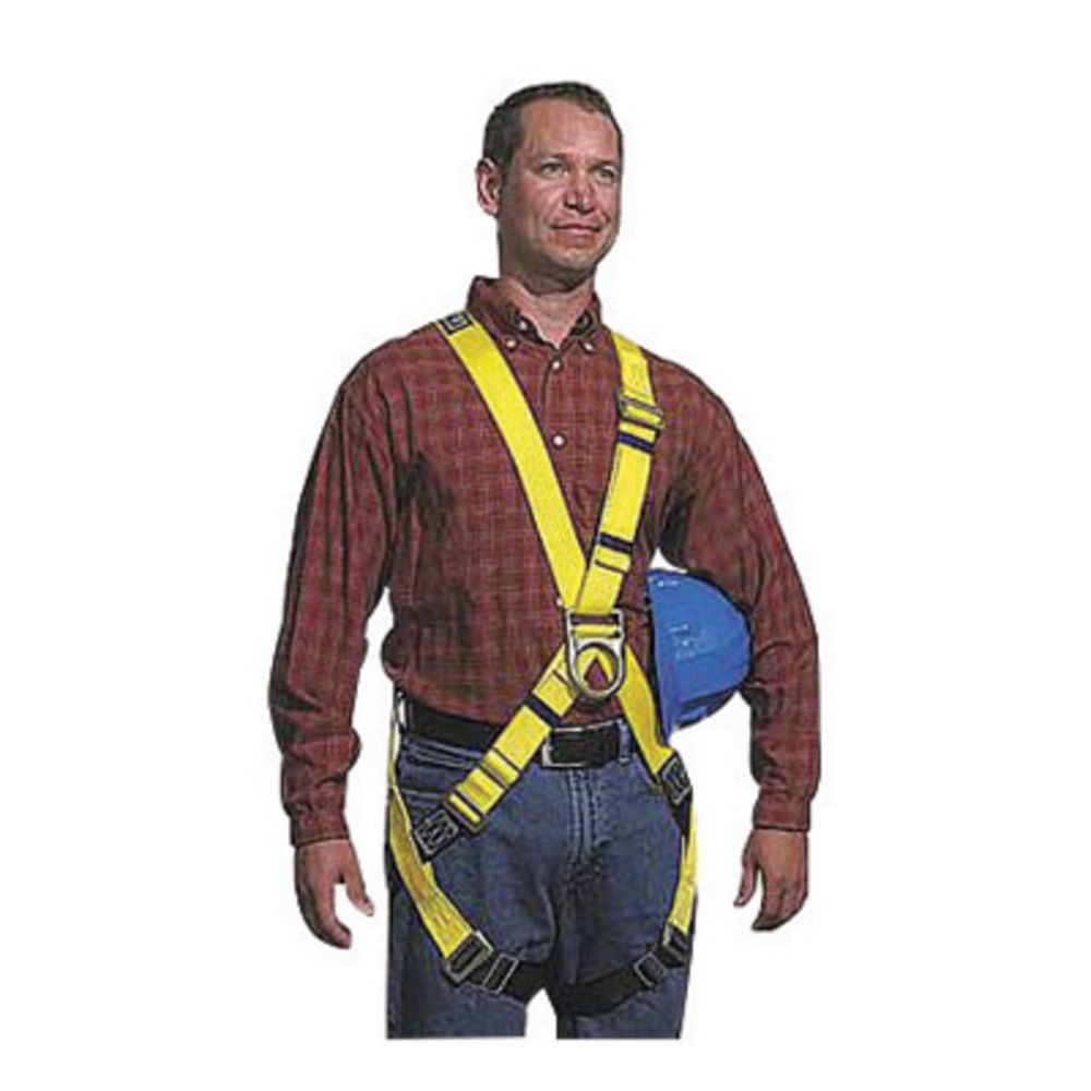 3M DBI-SALA Large Construction/Cross Over/Full Body Style Harness With Pass Thru Leg Strap Buckle, Foam Hip Pad And Belt