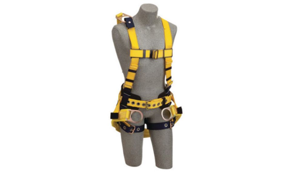 3M DBI-SALA Large Delta Derrick No-Tangle Full Body Vest Style Harness With Back D-Ring With 18