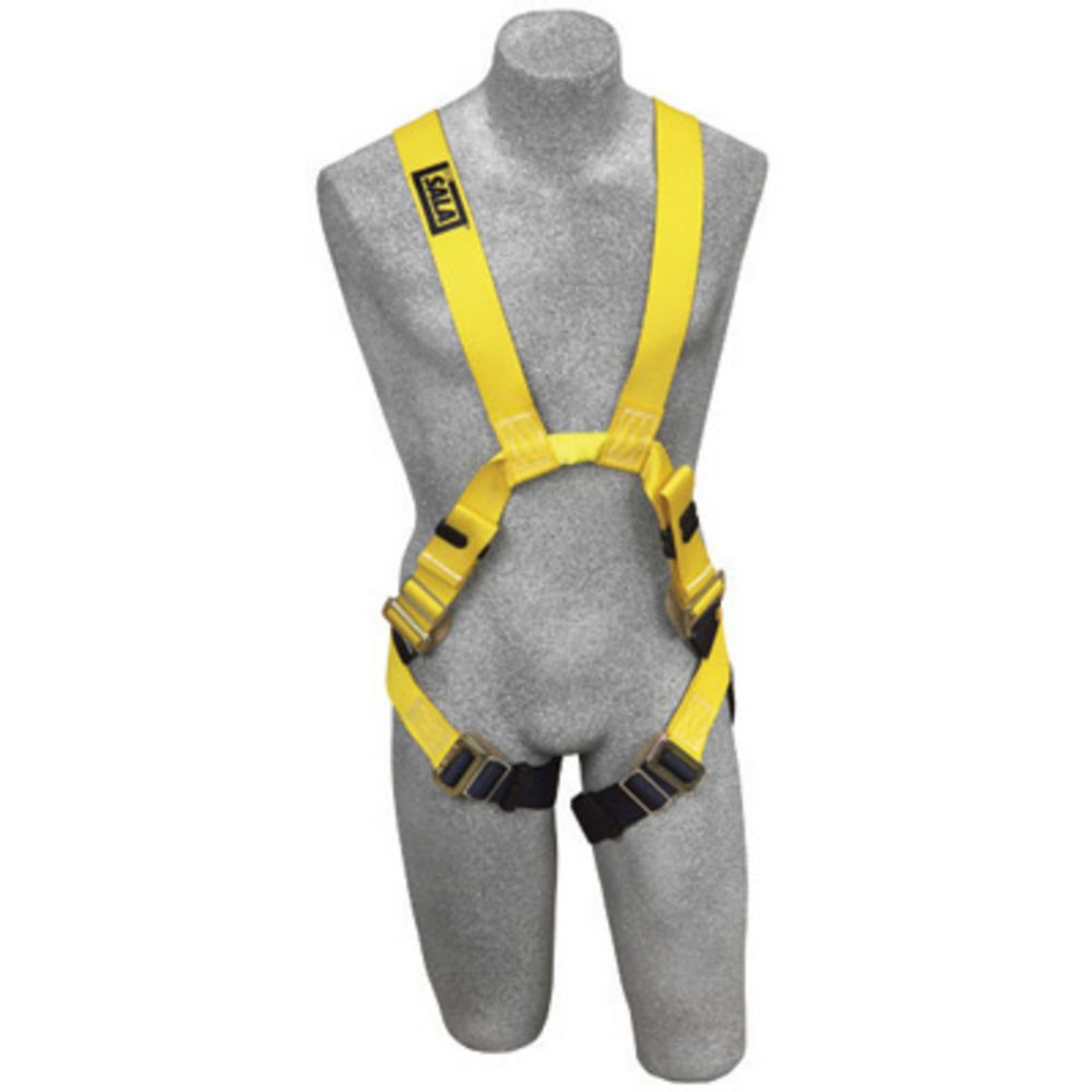 3M DBI-SALA Large Delta II Arc Flash Harness With Quick Connect Buckle Leg Strap, Back And Front Web Loop And Leather Insulators And No Metal Above Waist Loops Only