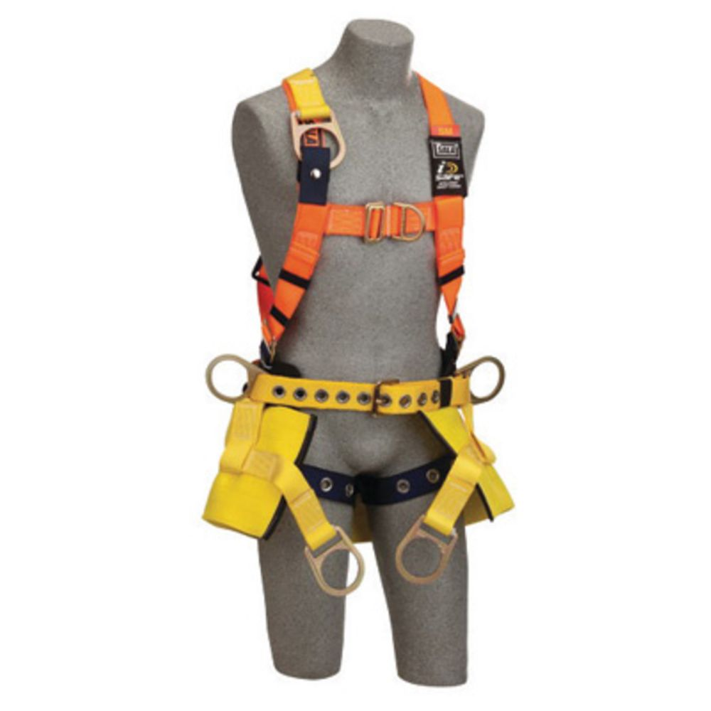 3M DBI-SALA Large Delta II Bosun Chair Harness With Back D-Ring, Tongue Buckle Leg Strap And 8