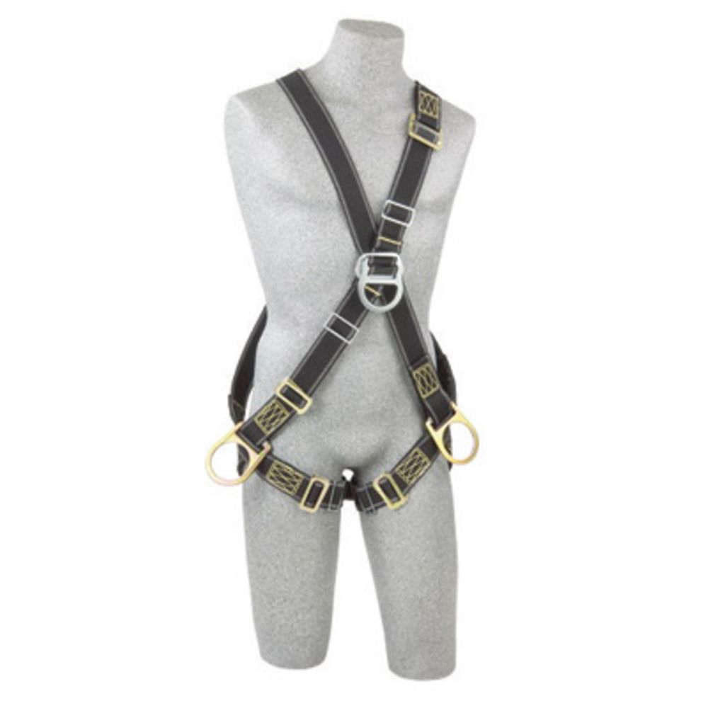 3M DBI-SALA Large Delta Positioning/Climbing Welder's Cross Over Style Harness With Back, Front And Side D-Rings And Pass-Thru Buckle Leg Strap