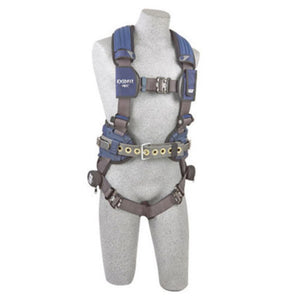 3M DBI-SALA Large ExoFit NEX Full Body/Vest Style Harness With Tech-Lite Aluminum Back D-Ring, Miner'S Belt With Pad And Side D-Ring, Duo-Lok Quick Connect Leg And Chest Strap Buckle, Torso Adjuster, Back And Leg Comfort Padding