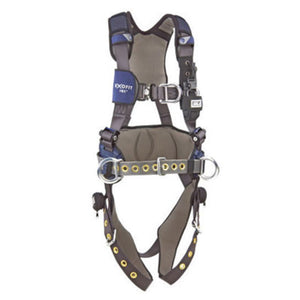 3M DBI-SALA Large ExoFit NEX Full Body Vest Style Harness With Tech-Lite Aluminum Back And Front D-Ring, Duo-Lok Quick Connect Leg And Chest Strap Buckle, Torso Adjuster, Back And Leg Comfort Padding, Wind Energy Belt With Pad And Side D-Ring